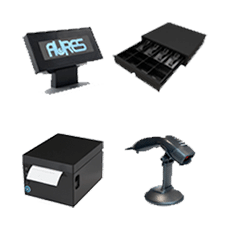 Le materiel Aures qui s'adapte au logiciel de caisse