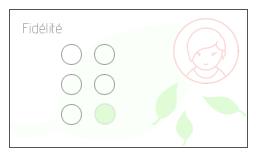 carte fidélité fleuriste